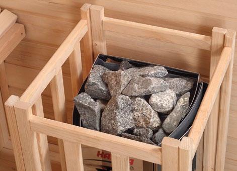 protezione in legno per stufa sauna finlandese