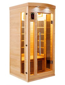 SAUNA AD INFRAROSSI 1 POSTO CON IRRADIATORI IN CARBONIO FULL OPTIONAL