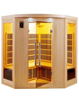 SAUNA AD INFRAROSSI 3/4 POSTI CON IRRADIATORI IN CARBONIO FULL OPTIONAL