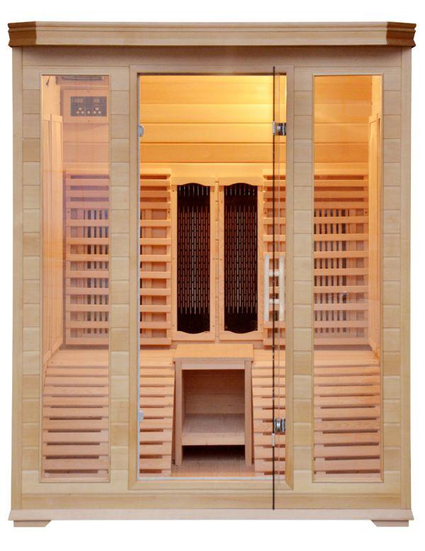 sauna ad infrarossi 2 posti con 2 sedute sdraio full optional carbonio