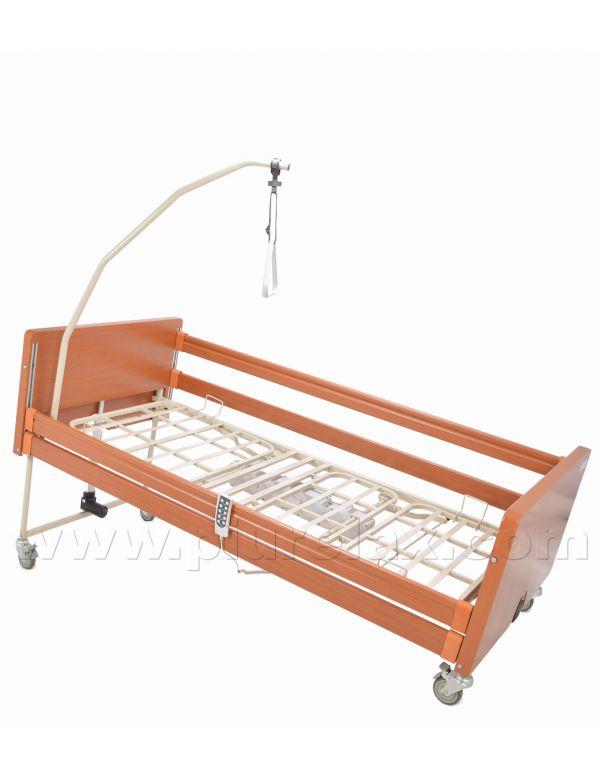 Letto ospedaliero elettrico con sponde e struttura in legno - Letto ospedaliero con sponde ...