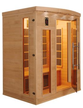 SAUNA AD INFRAROSSI 3 POSTI CON IRRADIATORI IN CARBONIO FULL OPTIONAL