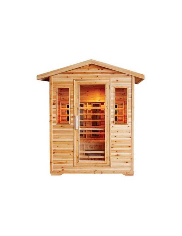 sauna ad infrarossi 4 posti da esterno full optional