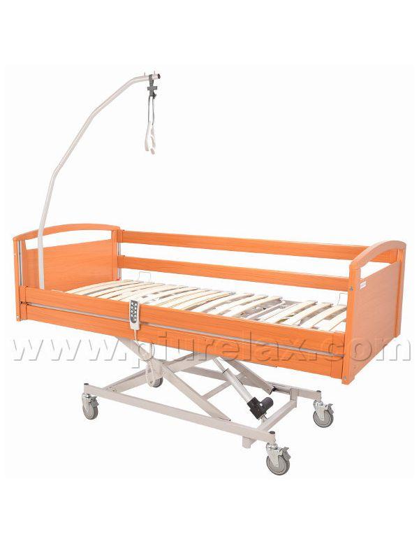 Letto ortopedico ospedaliero con alzata a pantografo - Letto ospedaliero con sponde ...
