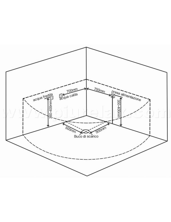 Vasca idromassaggio 2 posti angolare con cromoterapia e radio - Misure vasca da bagno ...
