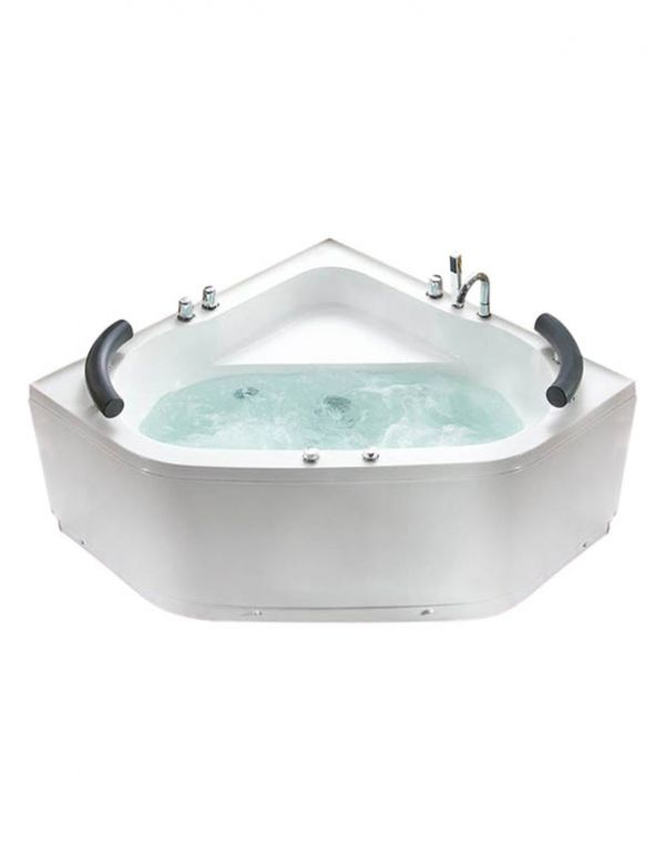 vasca da bagno idromassaggio 2 posti angolare misure 130x130 cm