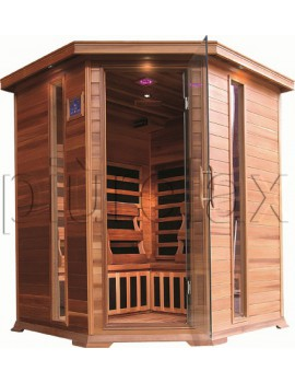 SAUNA AD INFRAROSSI 4/5 POSTI CON IRRADIATORI IN CARBONIO FULL OPTIONAL