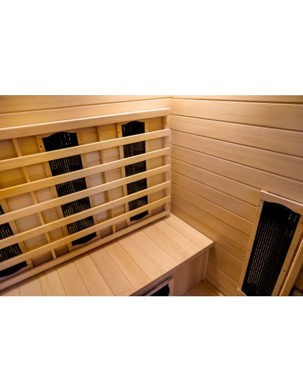 Sauna infrarossi 2 posti full optional da esterno con tegole canadesi - Sauna da esterno ...