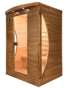SAUNA INFRAROSSI 2 POSTI IRRADIATORI QUARZO E MAGNESIO FULL OPTIONAL