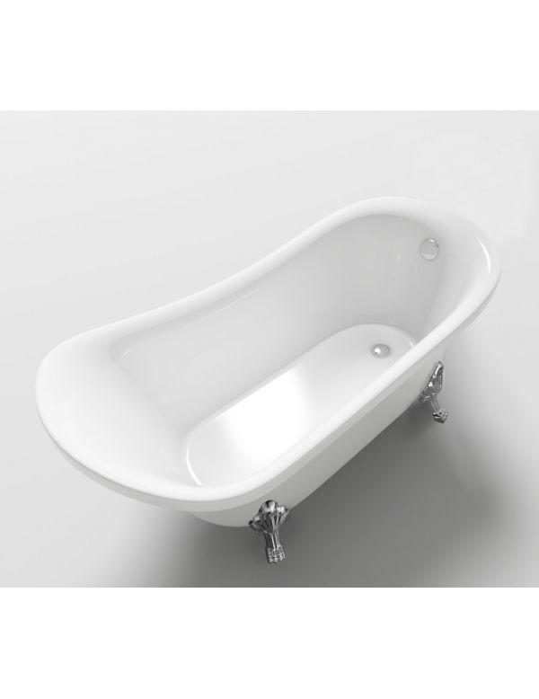 Vasca da bagno freestanding 160 x 72 piedi zampa di leone piurelax - Vasca da bagno con piedi ...