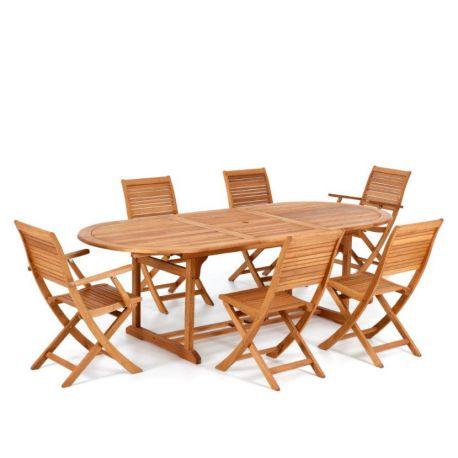 Sedie Tavoli Da Esterno.Tavolo Da Giardino In Legno Con Sedie