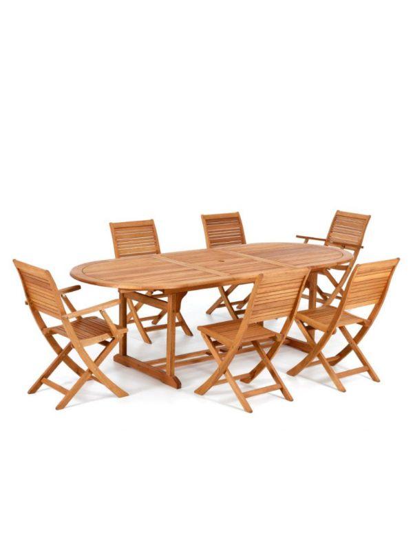 Sedie Per Giardino Legno.Tavolo Da Giardino In Legno Con Sedie