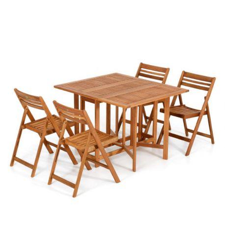 Tavolo Da Giardino Pieghevole Con Sedie.Tavolo Da Giardinoin Legno Pieghevole Con Sedie