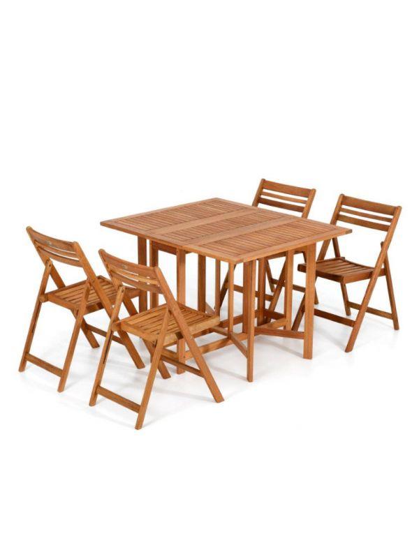 Tavolo Da Esterno In Legno Pieghevole.Tavolo Da Giardinoin Legno Pieghevole Con Sedie