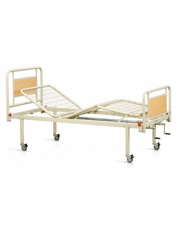 letto ospedaliero manuale a due manovelle con ruote