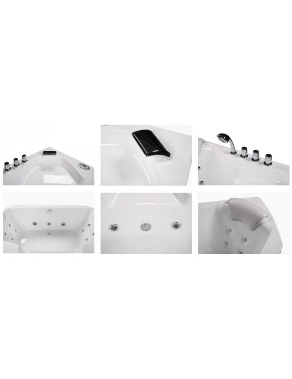 Vasca da bagno idromassaggio angolare misure 135x135 - Misure vasche da bagno rettangolari ...