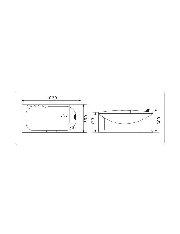 Vasca idromassaggio misure 153x85 cm - Misure vasca da bagno ...
