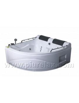 Vasca da bagno angolare misure 150x150 con cromoterapia e - Cromoterapia vasca bagno ...