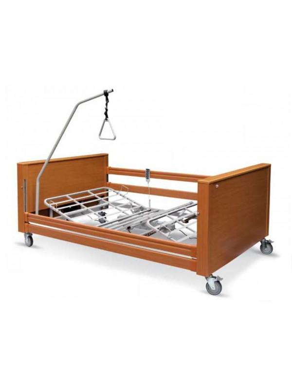 Letto ospedaliero elettrico con sponde e alzamalato misura 120 - Letto con sponde per anziani ...