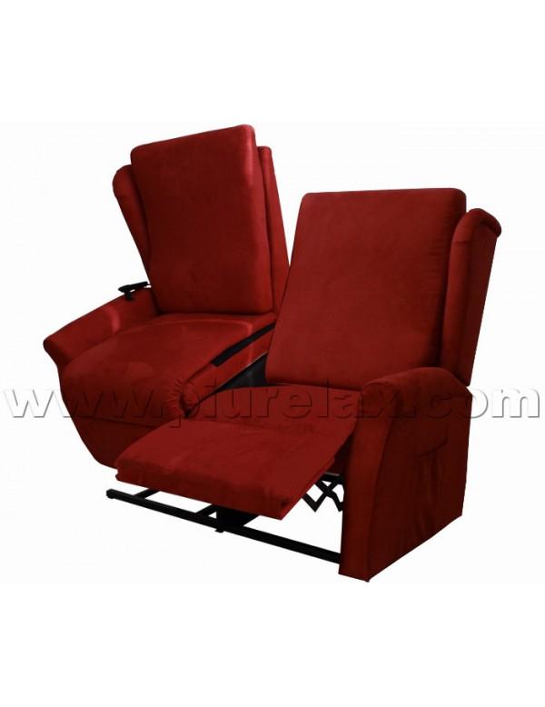 Divano due posti una seduta alzapersona reclinabile un motore - Copridivano relax ...
