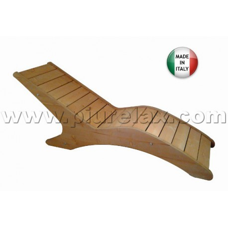 Chaise longue in legno abete made in italy - Chaise longue giardino ...
