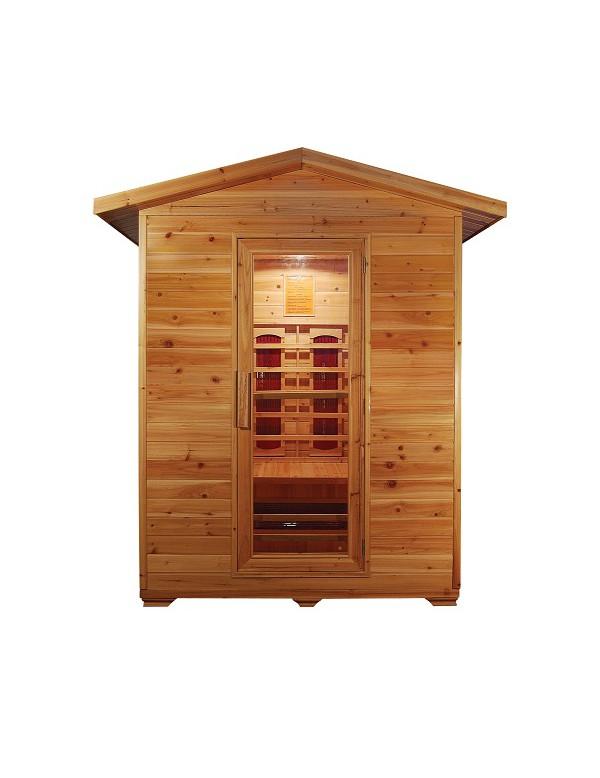 sauna ad infrarossi da esterno 2 posti con irradiatori in ceramica full optional