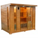 SAUNA INFRAROSSI 5 POSTI IRRADIATORI CARBONIO FULL OPTIONAL