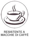 tessuto resistente macchie di caffè