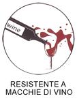 tessuto resistente macchie di vino