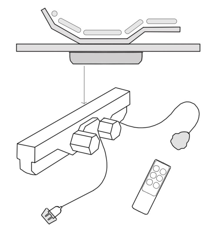 kit telecomando senza rete motorizzta fili più relax
