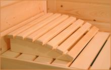 poggiatesta in legno sauna finlandese