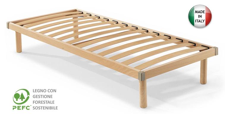 rete ortopedica singola in legno