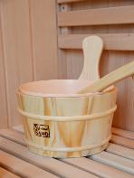 secchiello e mestolo sauna finlandese